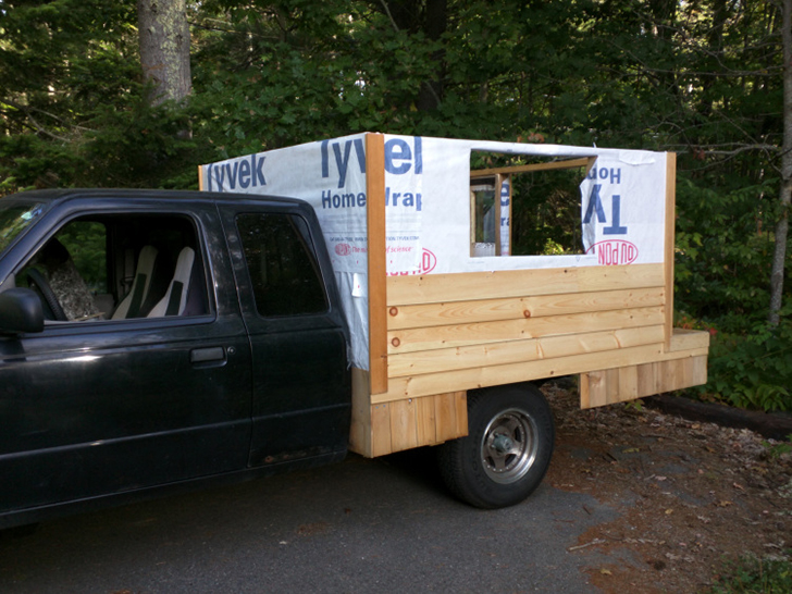 Man Travels The US In A 500 Homemade Truck Camper