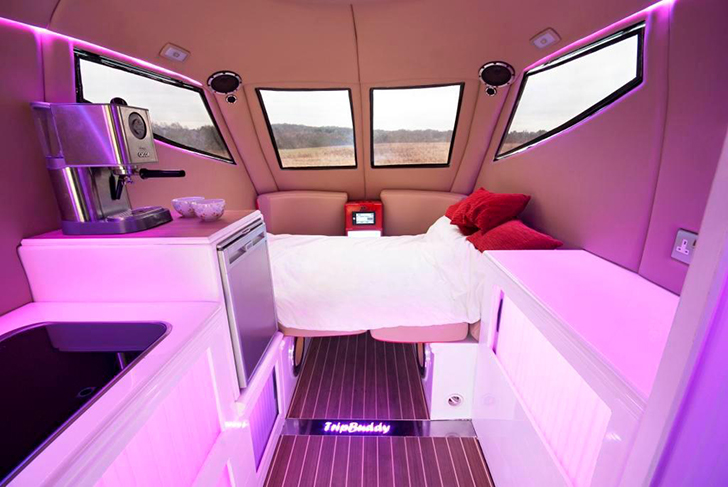 4 Foot Led Lights >> Futuristic TripBuddy Caravan Big On Curves And Accessibility