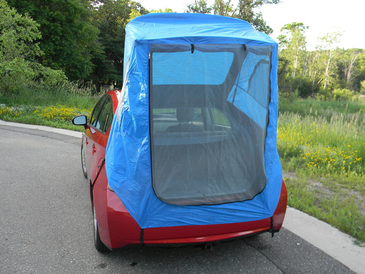 Habitents & You Can Buy This Tent For A Prius That Fits In The Glove Box