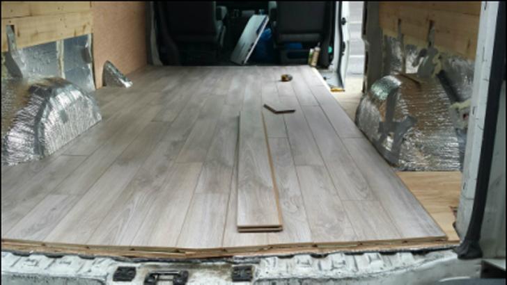 flooring going in