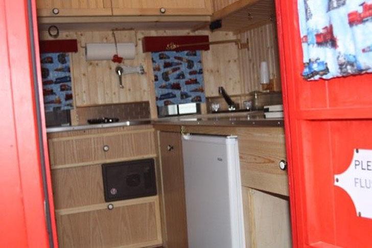 kitchen cabinet from door