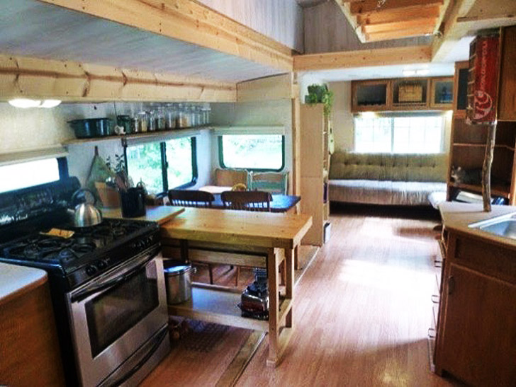 Kitchen And Dining Area Are Part Of The Great Room Trailers Open Floor Plan View Tiny House Talk
