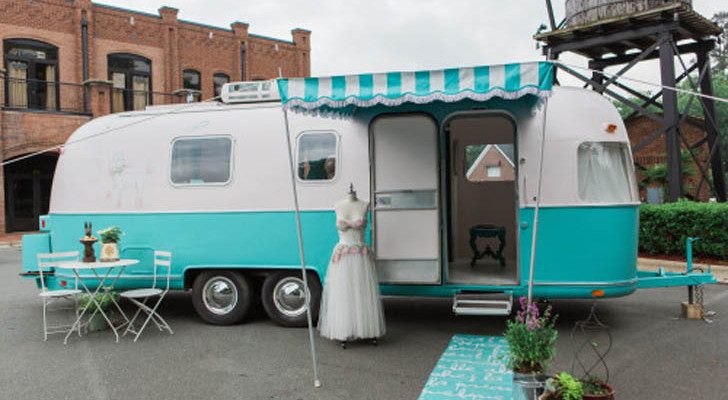 Something Old, This Classic Airstream Argosy Gets New Life As A Bridal Boutique