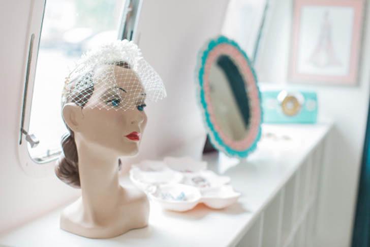 vintage wig head