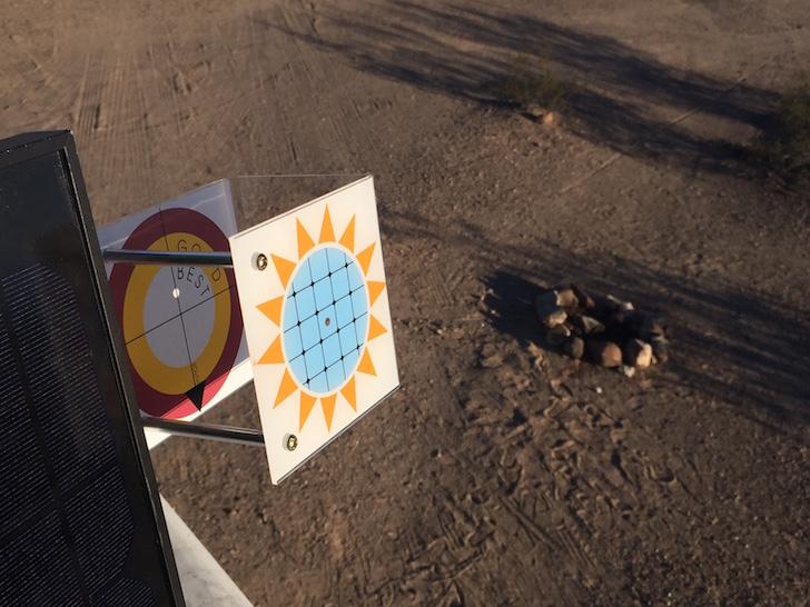 Aligning solar power panel