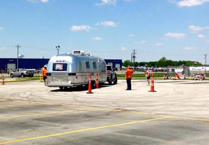 Backing an Airstream