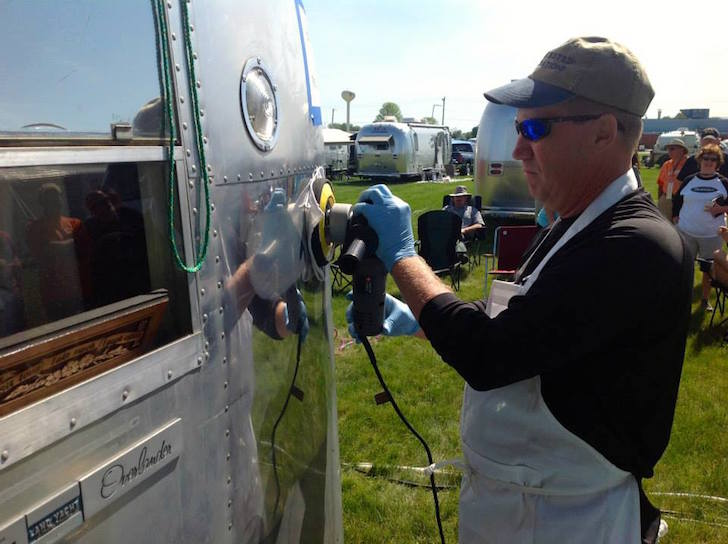 Buffing an Airstream