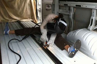 Woman Builds Van Conversion Over Course Of 32 Months