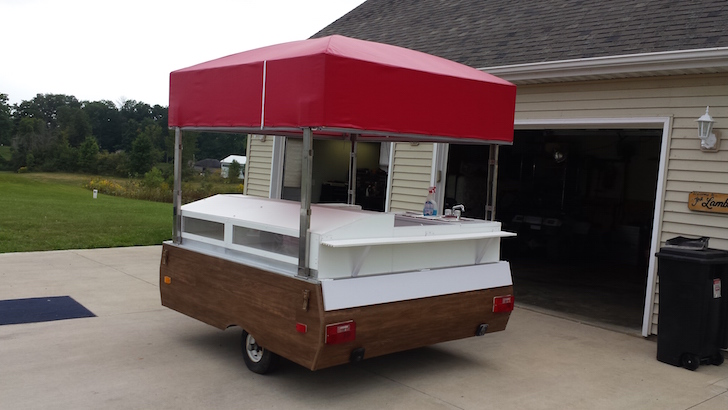 Pop Up Camper Hot Dog Trailer