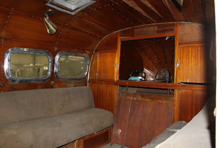 Howard Hughes trailer interior
