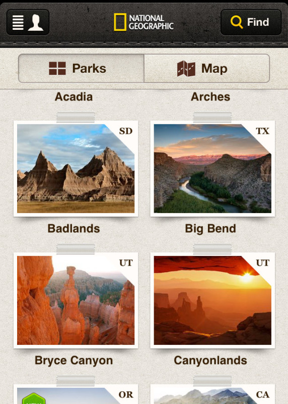 National Parks Mobile Apps