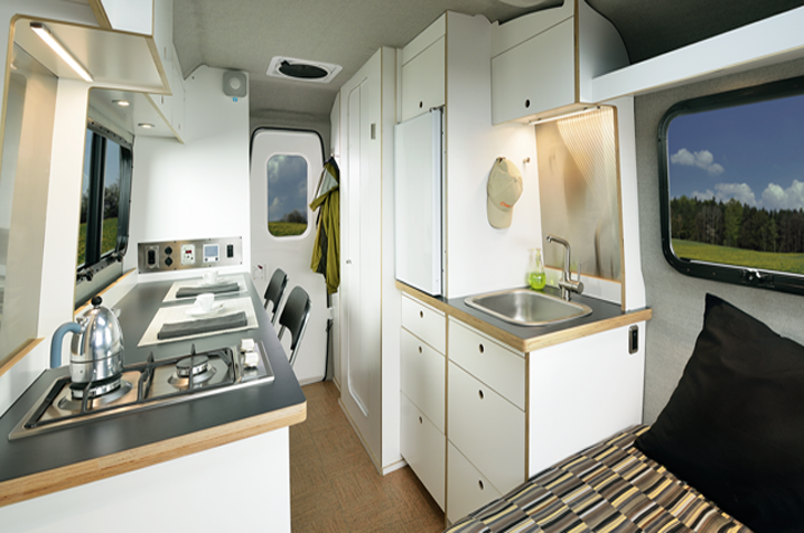 Luxury rv interior - Nest Caravan Unites Chassis And Body In Monocoque Form