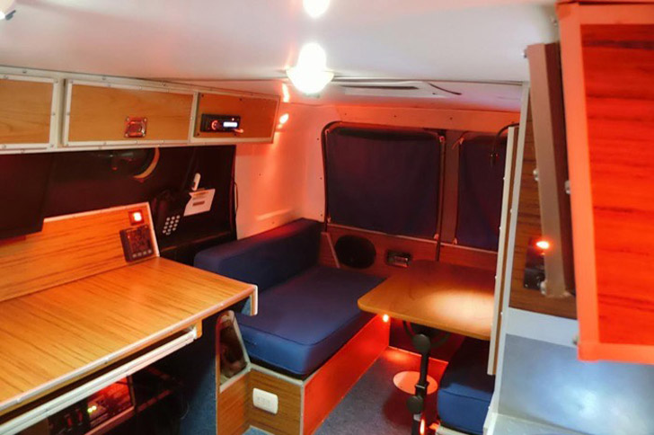 dinette converted for eating