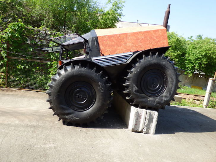 SHERP ATV clearing obstacles