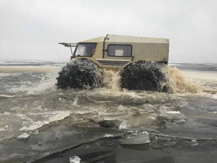 SHERP ATV in water
