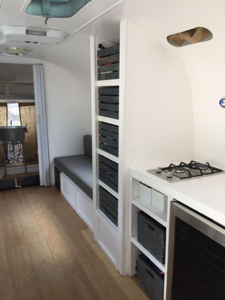 Storage cubbies in Overlander