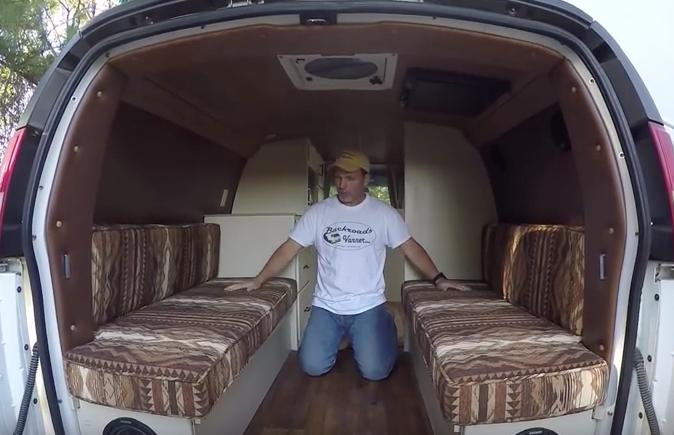 Two beds in van