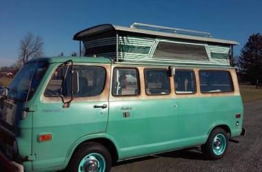 Not A Volkswagen: 1968 Chevy Pop Top Camper
