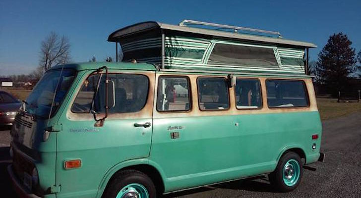 Not A Volkswagen: 1968 Chevy Pop Top Camper