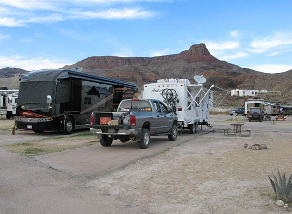 RV camping in big bend