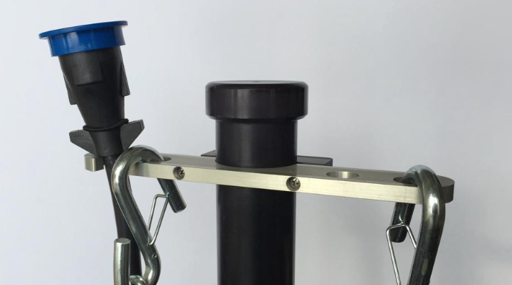 Towing Organizer Fits On Tongue Jack To Store Towing Gear And Save Plugs