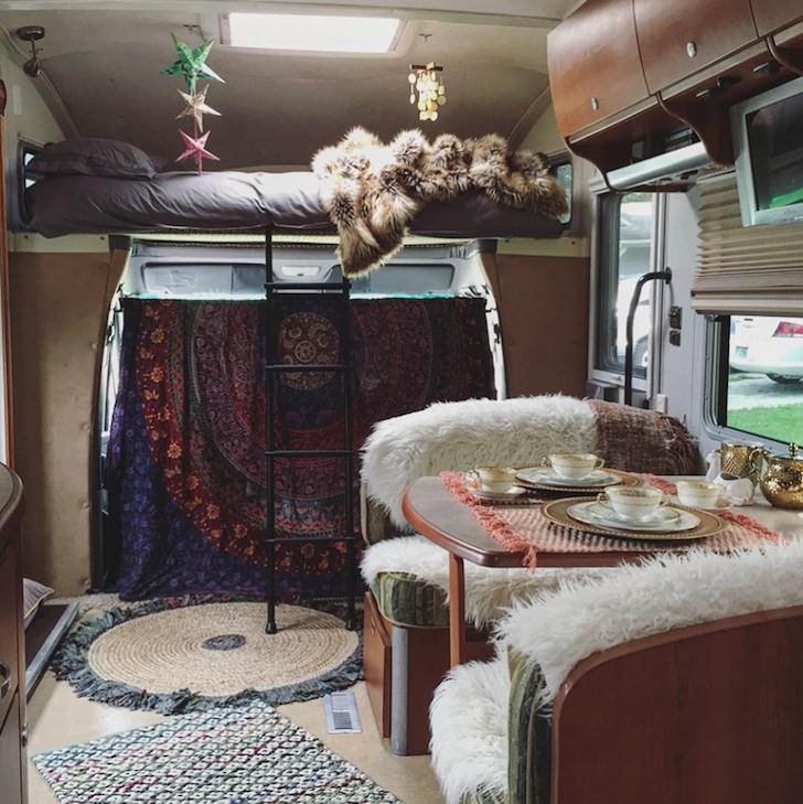 Bohemian RV interior