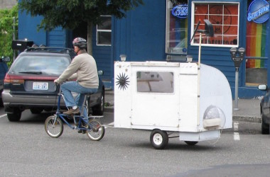 Picture Of The Day: Burning Man Bicycle-Pulled Camper
