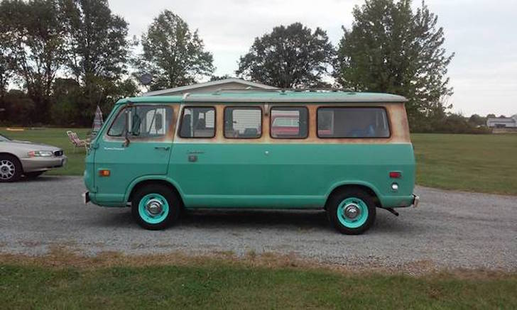 Chevy camper van from 1968