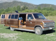 Nondescript Ford Econoline Van Converted To Stealth Office Apartment