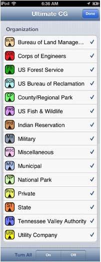 Free camping organizations app