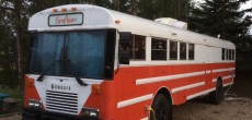 AmTran International School Bus Becomes Home To Family Of Nine