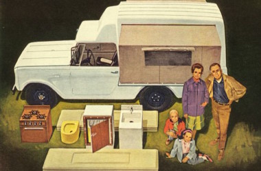 1963 Scout Camper Looks Like A Pop Up Camper Placed Sideways On A Pick Up Truck