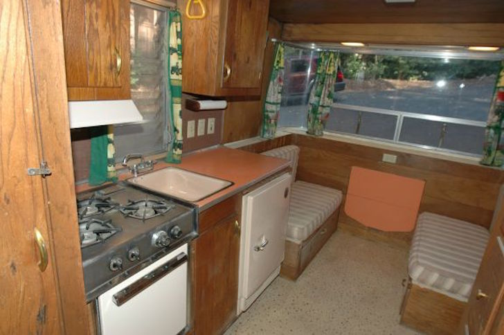 Holiday Rambler original interior