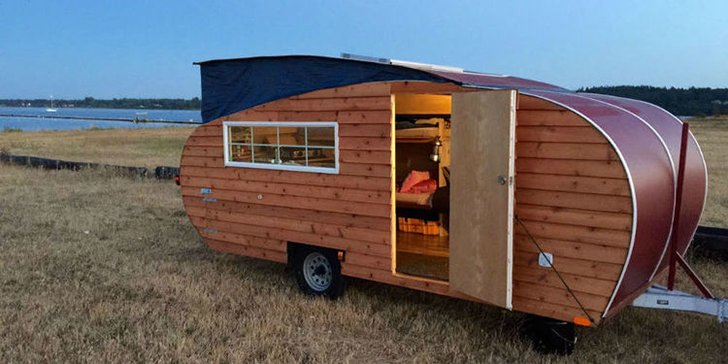 Wood Sided Wheeled Cabin Channels Pop Up Teardrop And Camper