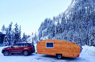 Wood Sided Cabin On Wheels Channels Pop Up, Teardrop, And Travel Trailer