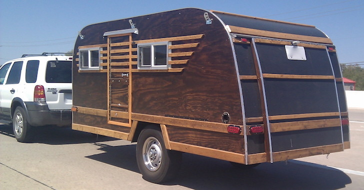 Picture Of The Day: Homemade Wood-Paneled Camper