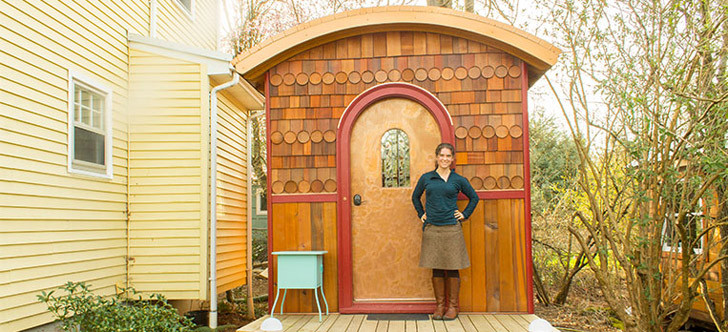 This Neighborhood Of Tiny Homes Shares A Lot With A Traditional House
