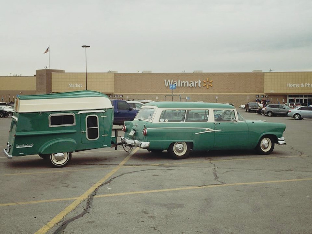 Matching camper and station wagon