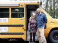 Couple Complete Mini School Bus To Campervan Conversion
