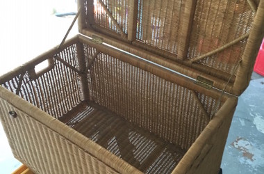 Portable Cat Home Made From Simple Wicker Chest