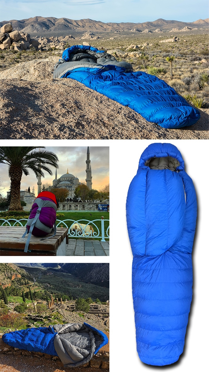 No zip sleeping bag