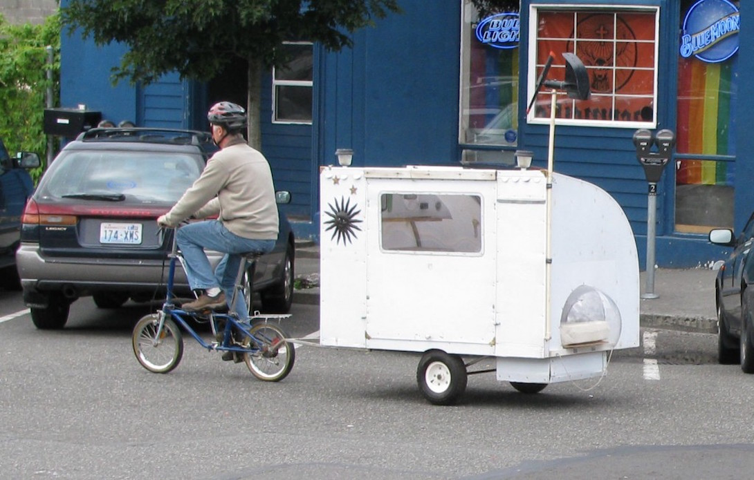 Paul Elkins bicycle camper