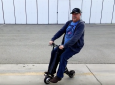 Folding Electric Scooter Will Also Charge Smart Phone