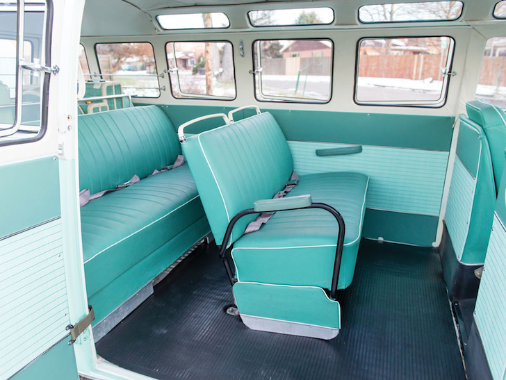Seating area in VW Type 2