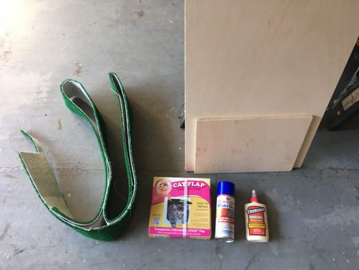 Supplies for mobile cat home