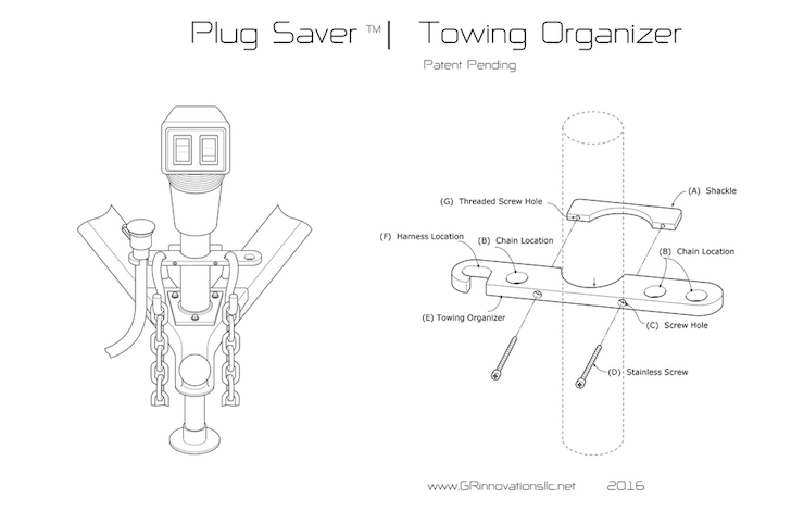 Towing organizer design
