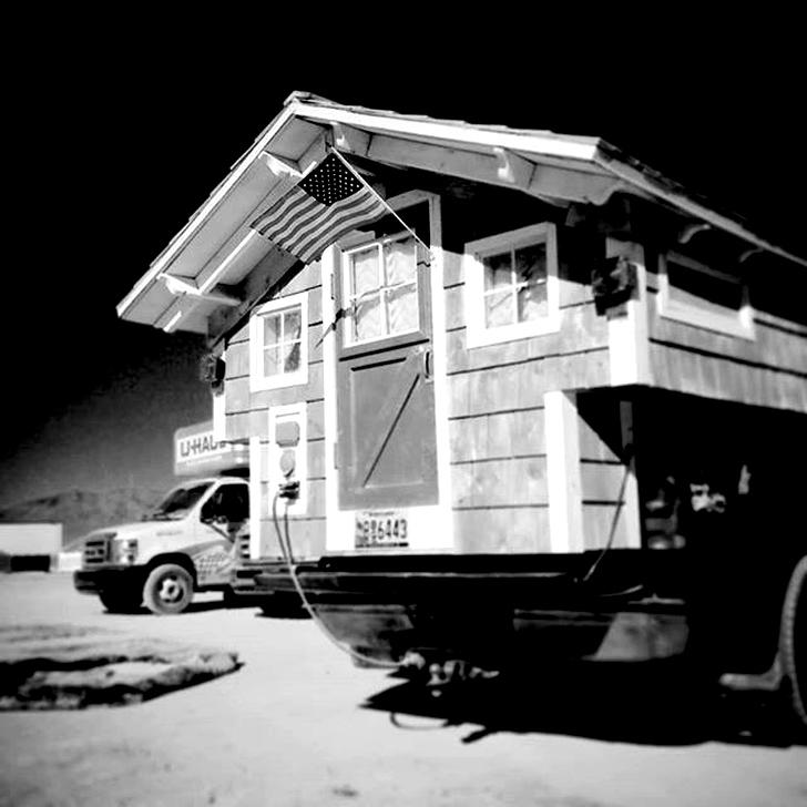 rear of truck in bw