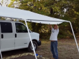 Custom Canopy System For Stealth Camper Van – It's An Awning On Steroids [VIDEO]