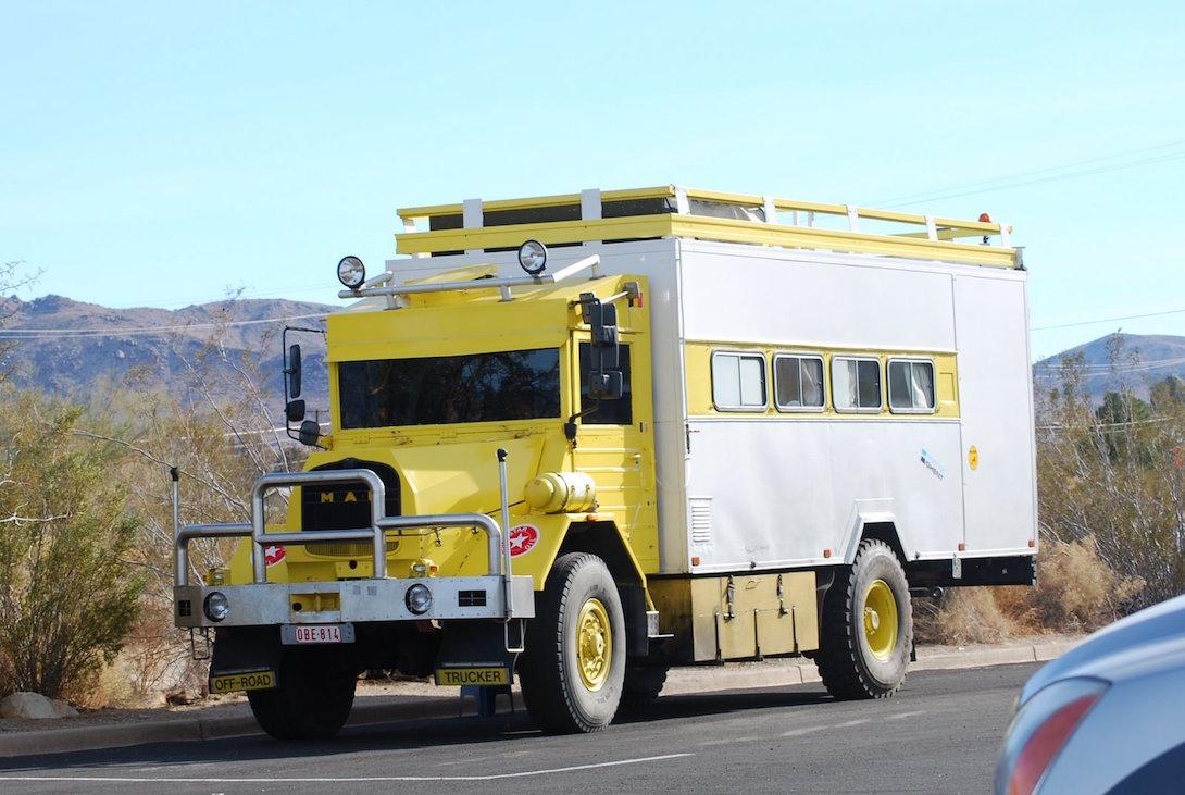 Vintage Mack truck camper