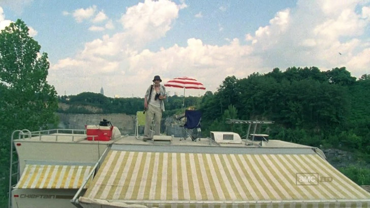 dale on roof